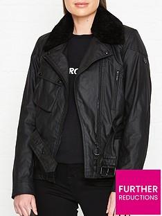 belstaff-sammy-wax-shearling-collar-jacket-black