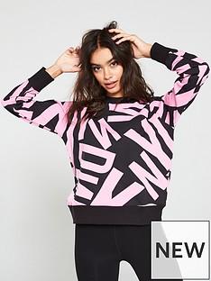 dkny-sport-logo-printed-sweatshirt-blackpink