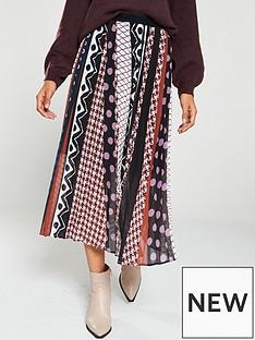 v-by-very-polka-and-geo-pleated-midi-skirt-multi
