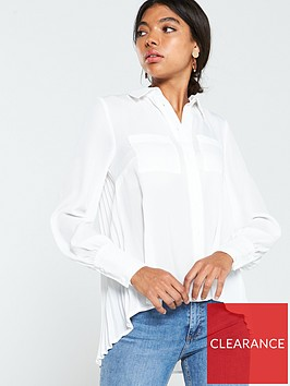v-by-very-essential-pleat-back-formal-blouse-ivory