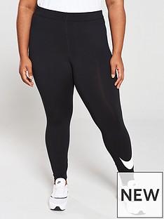 b04097e36bb53a Nike NSW Leg-A-See Swoosh Legging (Curve) - Black