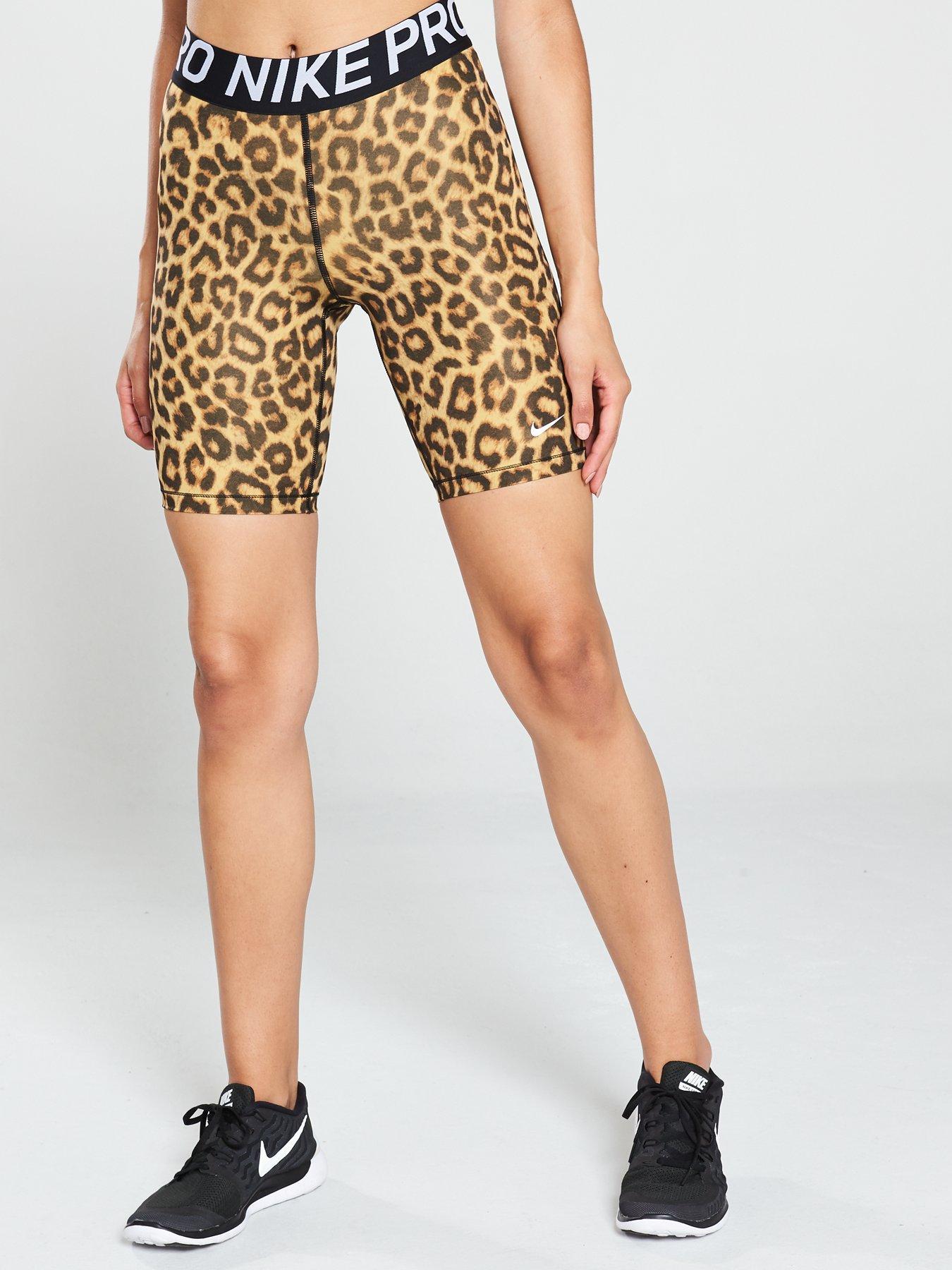 nike leopard print shorts