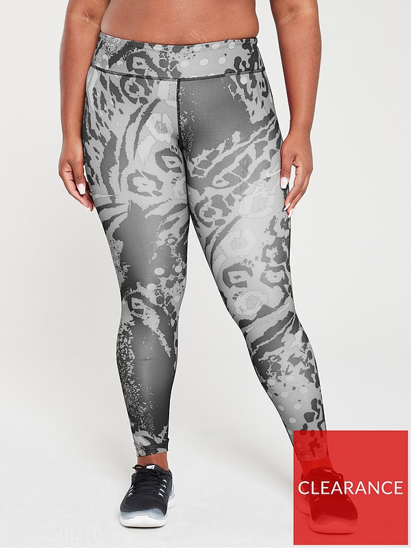 Nike Run Fast Print Legging Black Print Very Co Uk
