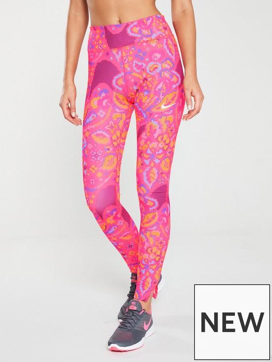 nouveaux styles 7932c c62e6 Run Fast Femme Print Legging - Pink