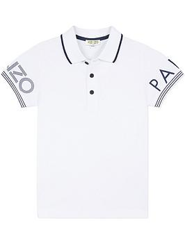 kenzo-boys-sleeve-logo-short-sleeve-polo-shirt-white