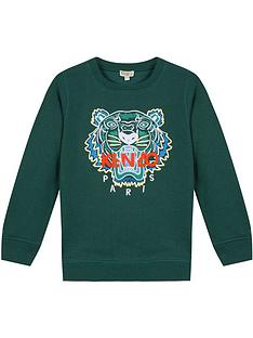 kenzo-boys-tiger-embroidered-sweatshirt-green