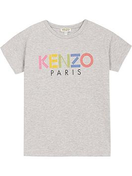 kenzo-girls-logo-short-sleeve-t-shirt-grey
