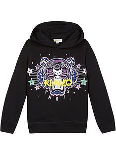 kenzo-girls-tiger-star-hoodie-black