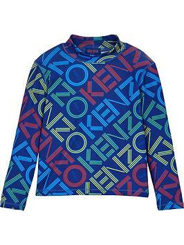 kenzo-aktion-boys-logo-print-base-layer-ski-top-blue