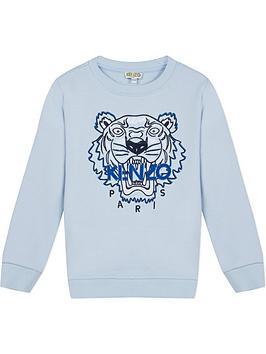kenzo-boys-tiger-embroidered-sweatshirt-blue