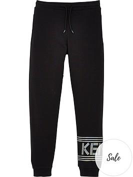 kenzo-girls-logo-jogger-pants-black