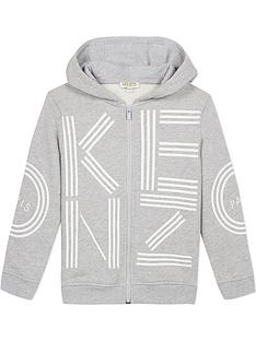 kenzo-boys-large-logo-zip-through-hoodie-grey