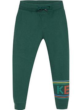 kenzo-boys-leg-logo-jogger-pants-green