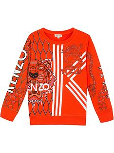 kenzo-boys-gomer-dragon-crew-neck-sweatshirt-orange