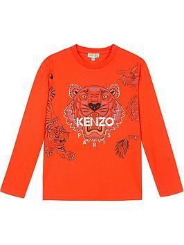 kenzo-boys-tiger-long-sleeve-t-shirt-orangenbsp