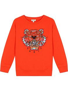 kenzo-boys-tiger-embroidered-sweatshirt-orangenbsp