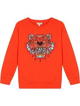 kenzo-boys-tiger-embroidered-sweatshirt-orangenbsp