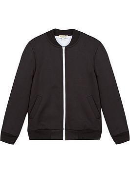 kenzo boys logo zip through track jacket - black