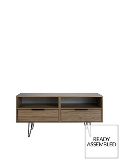 SWIFT Tokyo Ready Assembled TV Unit with Hair Pin Legs - fits up to 48 inch TV