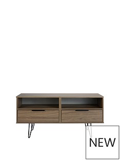 SWIFT Tokyo TV Stand with Black Hairpin Legs - fit up to 48 inch TV