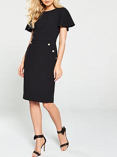 v-by-very-buttonnbspdetailnbsppencil-dress-black