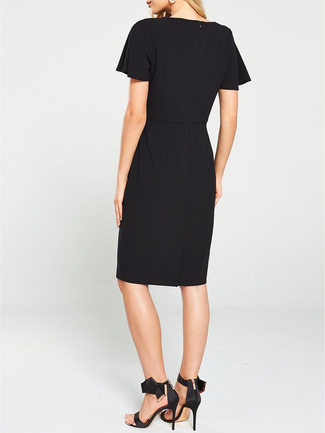 V by Very ButtonDetailPencil Dress - Black zcs6Fd