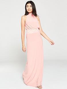 f63b90686635 V by Very Lace Trim Occasion Maxi Dress - Blush