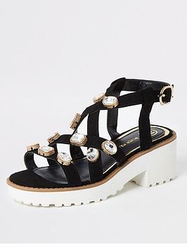 river-island-girls-embellished-chunky-sandals-black
