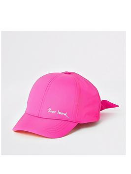 river-island-girls-bow-cap-bright-pink
