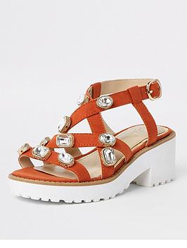 river-island-girls-embellished-clumpy-sandals-orange