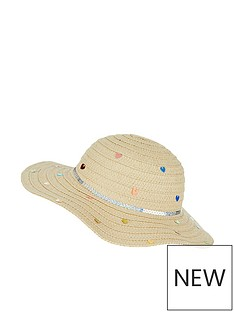 78e5579c7a4 Accessorize Girls Multi Sequin Floppy Hat - Natural