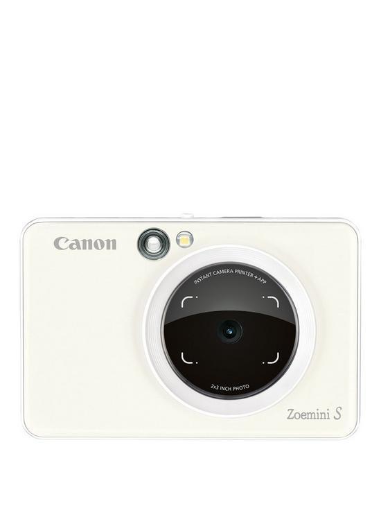 Canon Zoemini S Pocket Size 2-in-1 Instant Camera Printer Phone (Pearl  White) + App