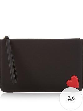 lulu-guinness-grace-heart-patch-pouch-black