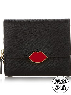 lulu-guinness-saffie-cut-out-lip-square-purse-black
