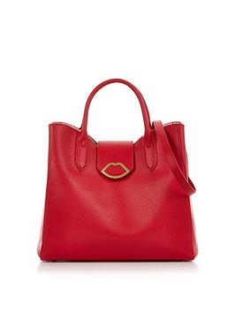 lulu-guinness-luella-cut-out-lip-shoulder-bag-red