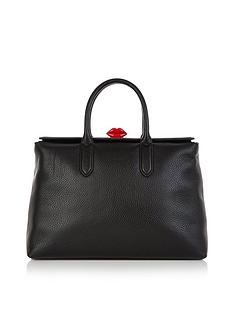 lulu-guinness-marilyn-lip-clasp-shoulder-bag-black