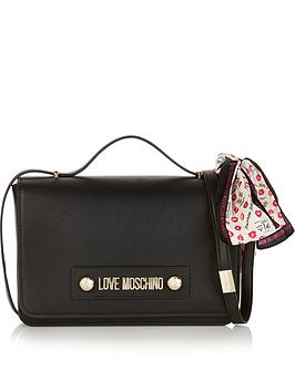 love-moschino-flap-over-cross-body-bag-black