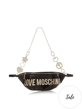 love-moschino-logo-charm-belt-bum-bag-black