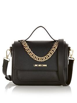 love-moschino-chain-detail-cross-body-bag-black