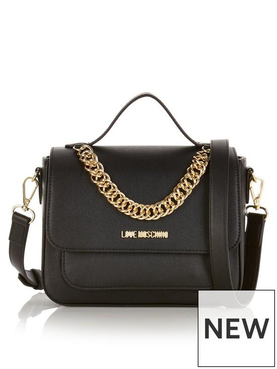 9d01905996b61 LOVE MOSCHINO Chain Detail Cross-Body Bag - Black | very.co.uk