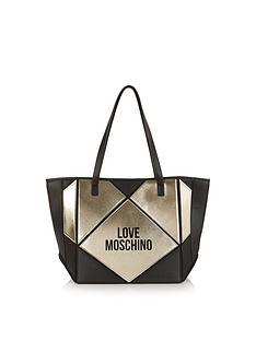 love-moschino-collapsiblenbsplogo-tote-bag-blackgold