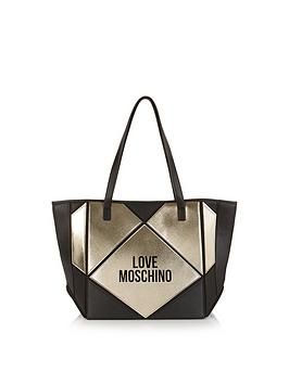 love-moschino-collapsiblenbsplogo-tote-bag-blackgold