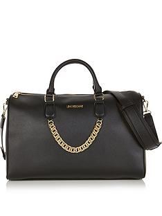 love-moschino-chain-detail-weekend-bag-black