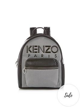 kenzo-paris-mesh-backpack-silver