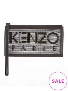 kenzo-paris-mesh-pouch-silver