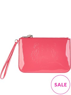 kenzo-tiger-patent-pouch-pink