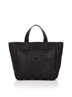 kenzo-tiger-nylon-padded-small-tote-bag-black