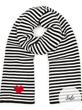 lulu-guinness-stripe-scarf-blackwhite