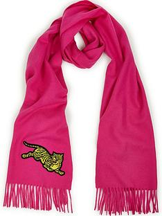 kenzo-jumping-tiger-scarf-pink