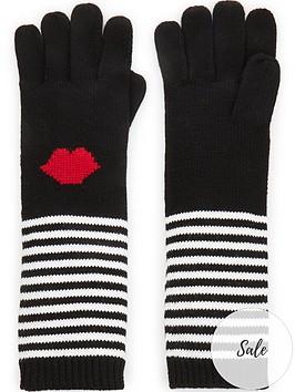 lulu-guinness-stripe-lips-gloves-blackwhite